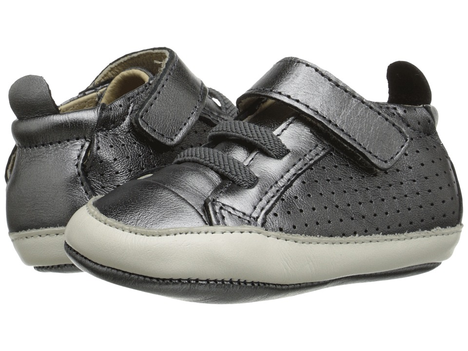 Old Soles - Cheer Bambini (Infant/Toddler) (Rich Silver/White) Girl's Shoes