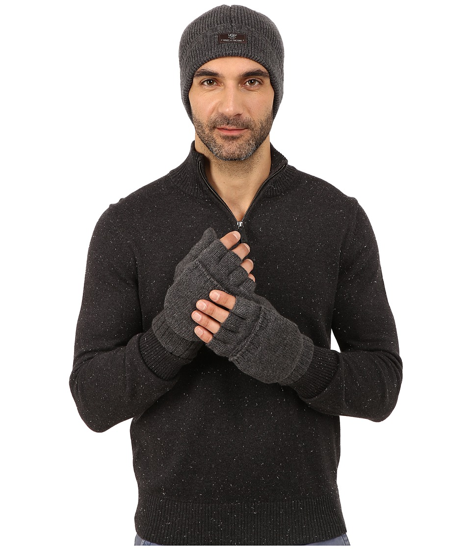 UGG - Heritage Gift Set (Granite Heather) Extreme Cold Weather Gloves