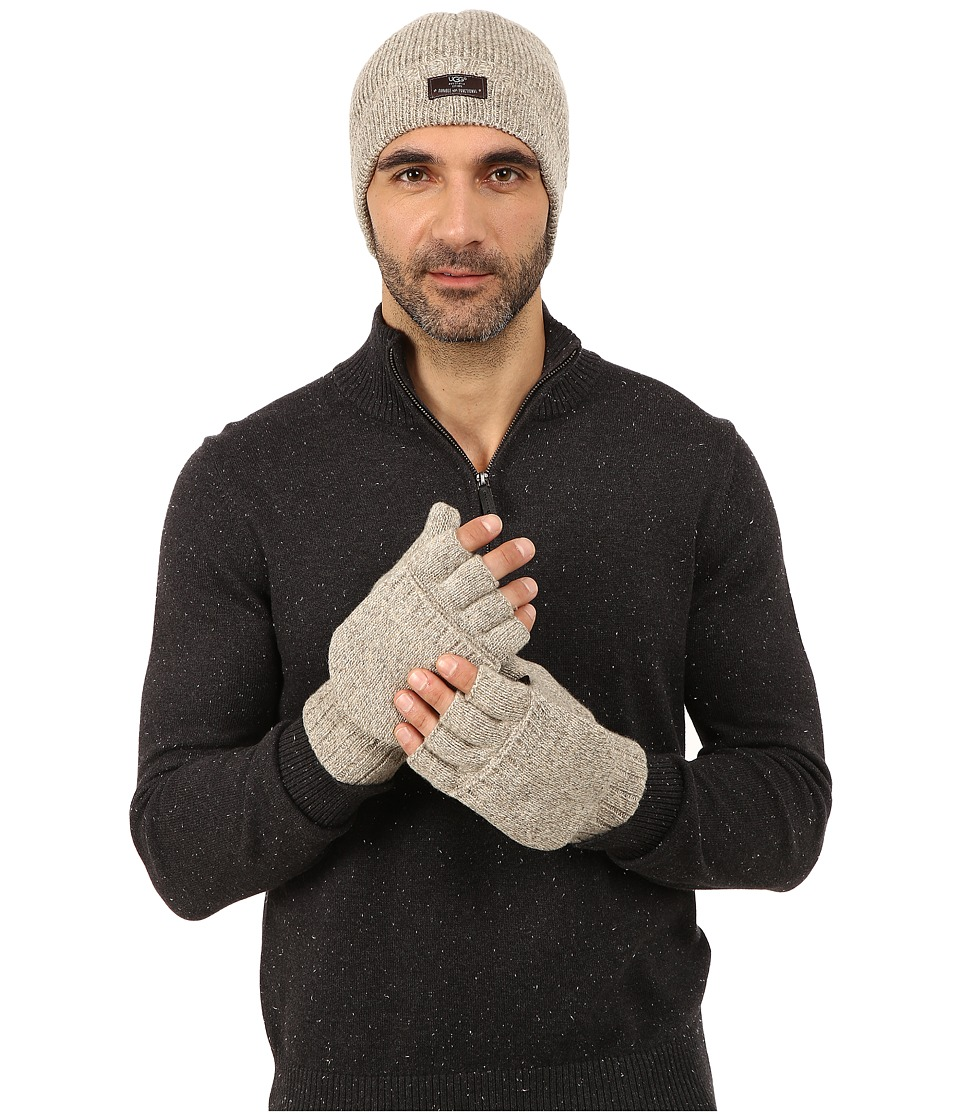 UGG - Heritage Gift Set (Oatmeal Heather) Extreme Cold Weather Gloves