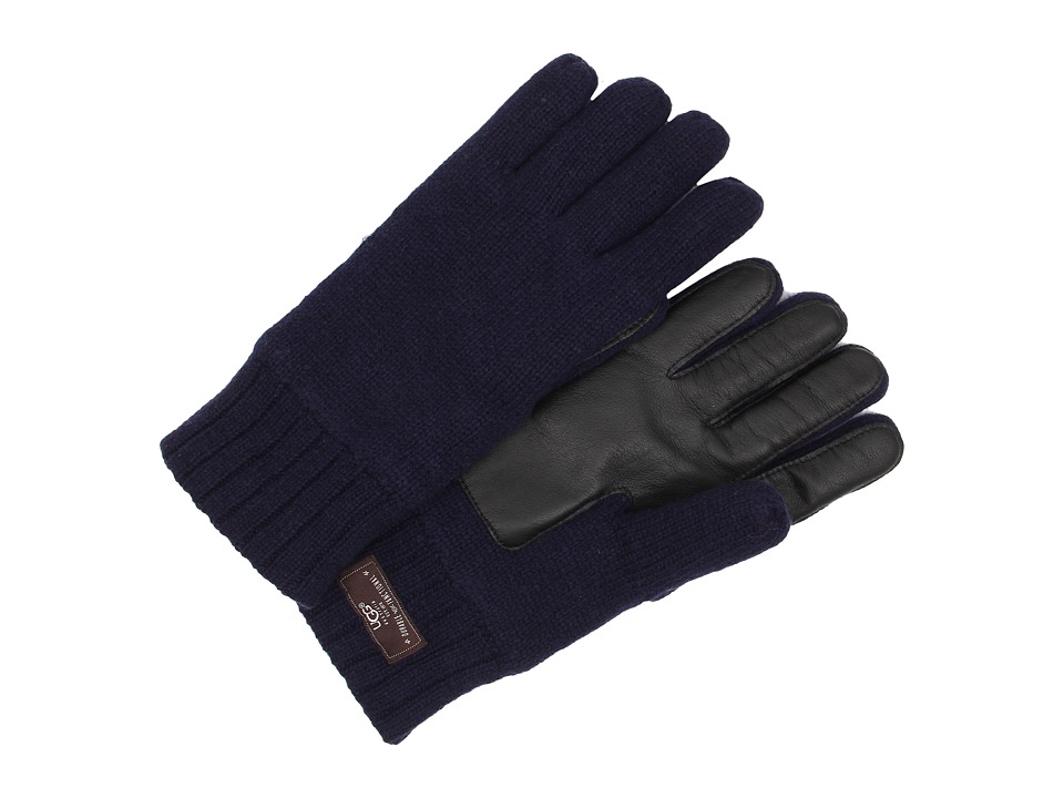 UGG - Calvert Glove with Smart Glove Leather Palm (Peacoat) Dress Gloves