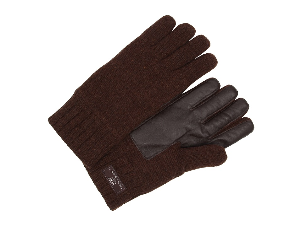 UGG - Calvert Glove with Smart Glove Leather Palm (Stout Heather) Dress Gloves
