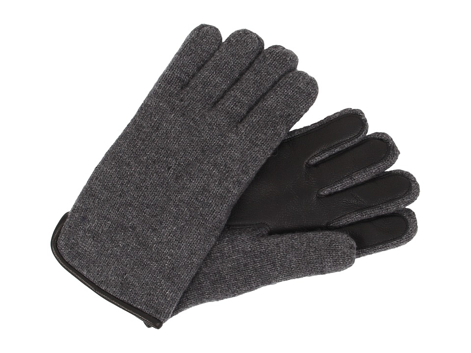 UGG - Calvert Side Vent Glove with Leather Palm (Granite Heather) Dress Gloves