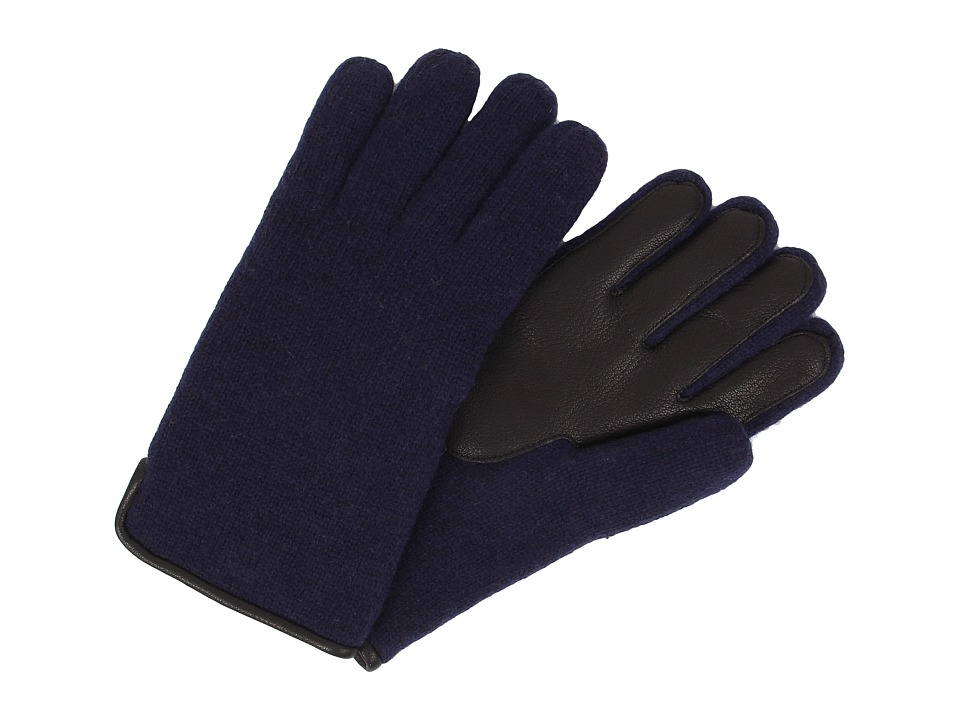 UGG - Calvert Side Vent Glove with Leather Palm (Peacoat) Dress Gloves
