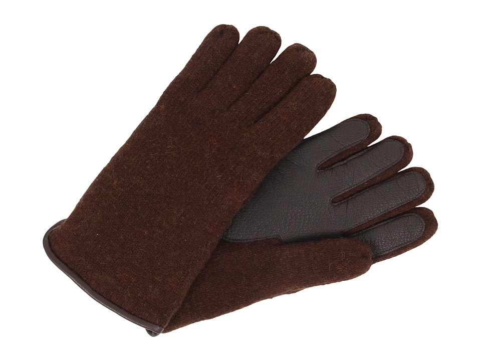 UGG - Calvert Side Vent Glove with Leather Palm (Stout Heather) Dress Gloves