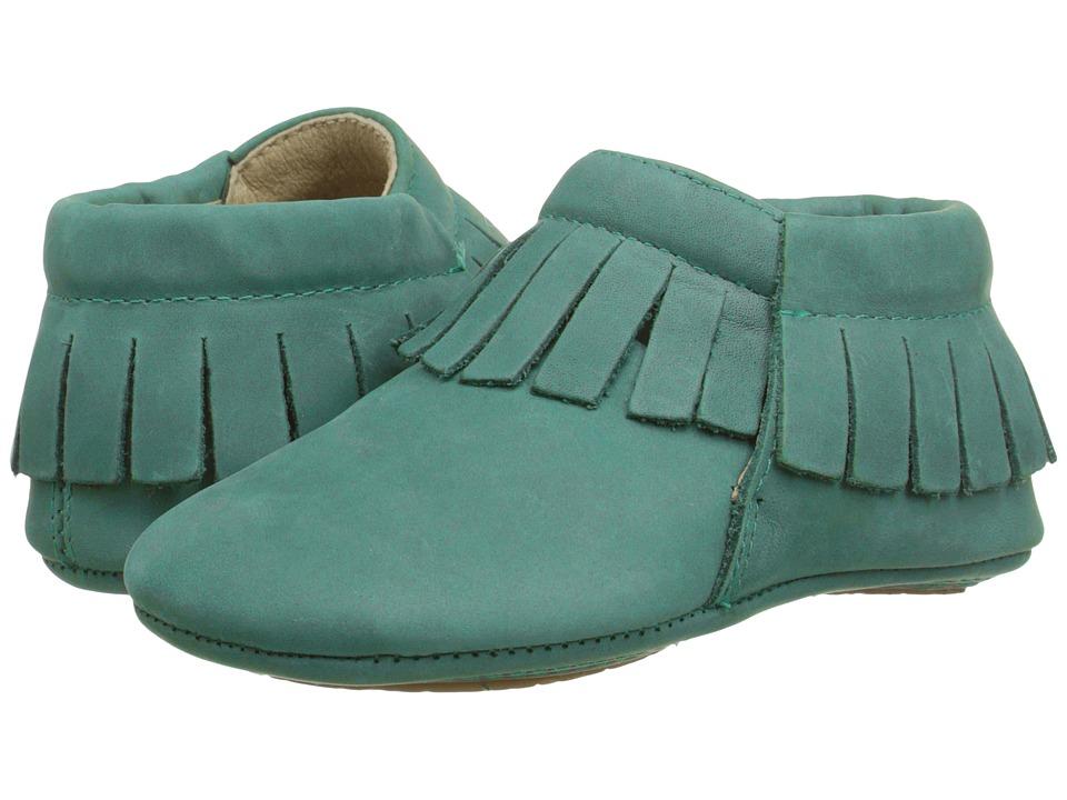 Old Soles - Fringe Boot (Infant/Toddler) (Emerald) Girls Shoes