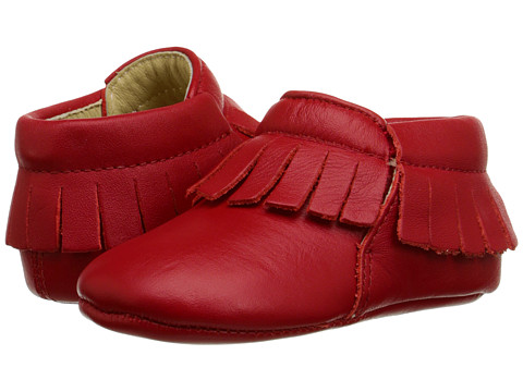Old Soles - Fringe Boot (Infant/Toddler) (Red) Girls Shoes
