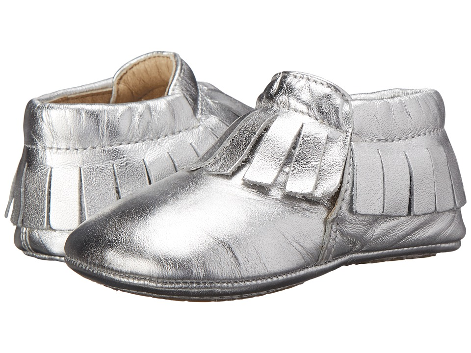 Old Soles - Fringe Boot (Infant/Toddler) (Silver) Girls Shoes