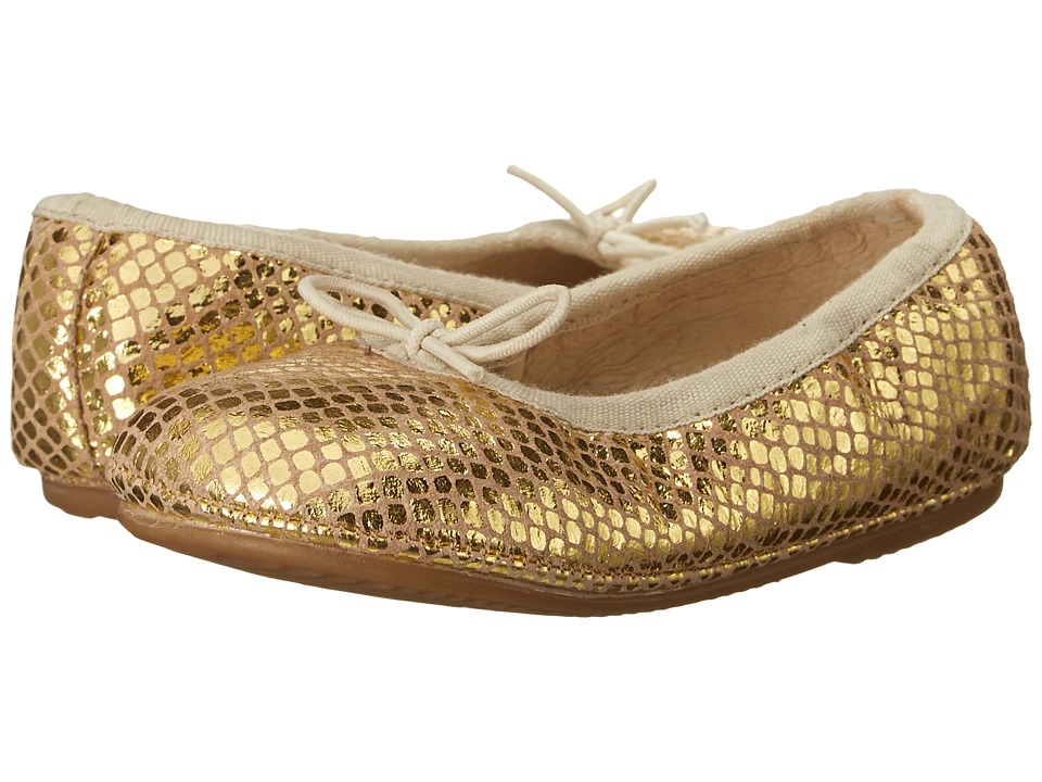 Old Soles - Cruise Ballet Flat (Toddler/Little Kid) (Gold Snake) Girls Shoes