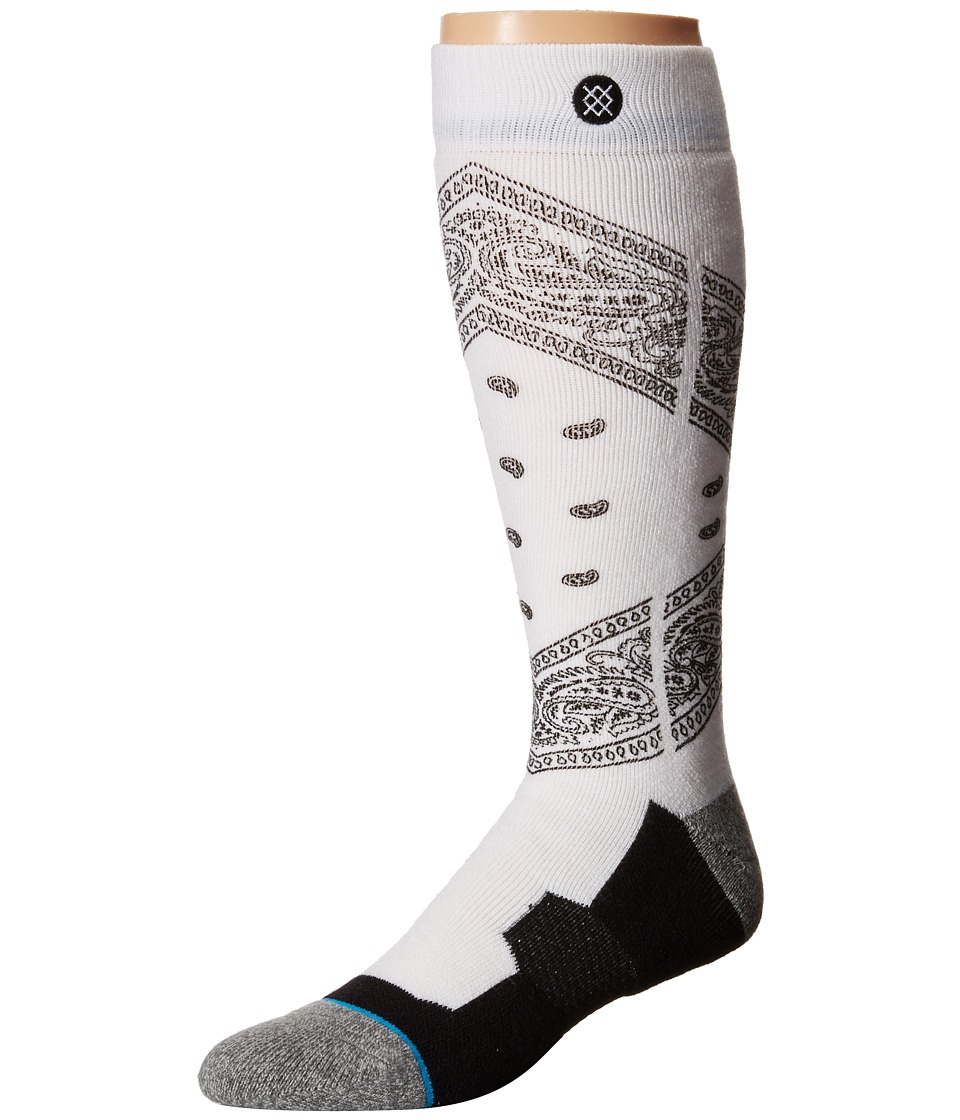 Stance - Roots (White) Men's Crew Cut Socks Shoes