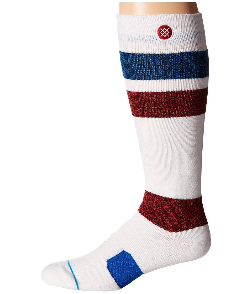 Stance - Johnson (White) Men's Crew Cut Socks Shoes