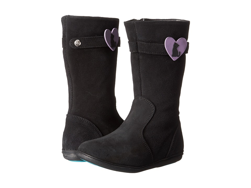 Bumbums & Baubles - Barrett (Toddler/Little Kid/Big Kid) (Black Suede) Girls Shoes
