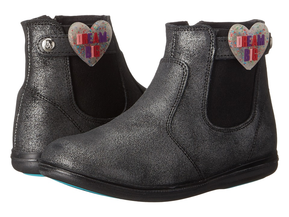 Bumbums & Baubles - Larken (Toddler/Little Kid/Big Kid) (Black Shimmer) Girls Shoes