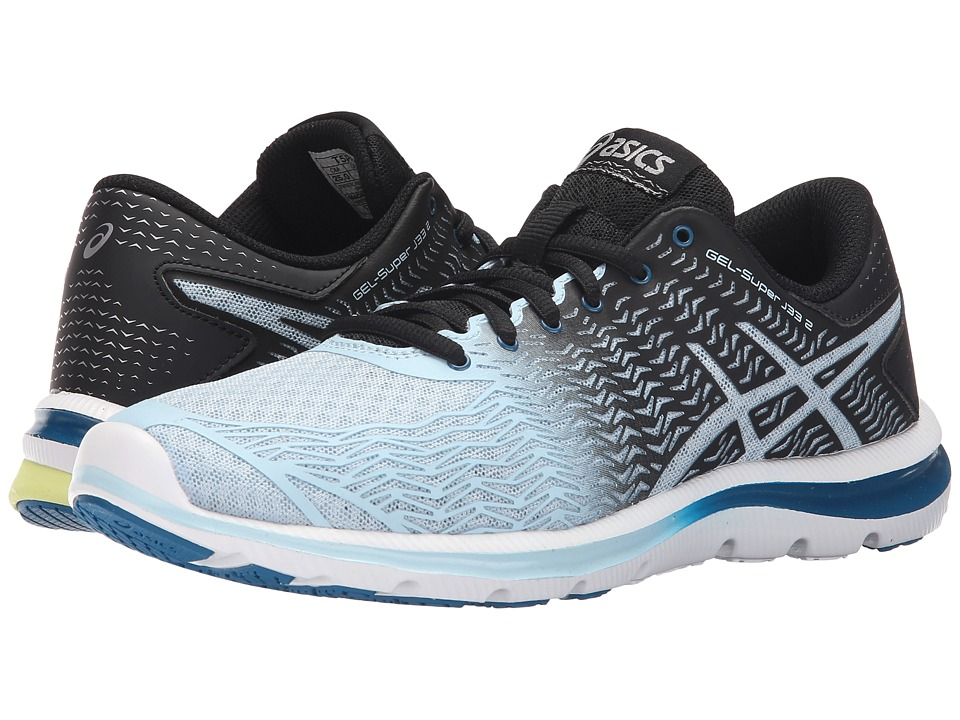 ASICS - GEL-Super J33 2 (Milk Blue/Black/Sunny Lime) Women's Running Shoes