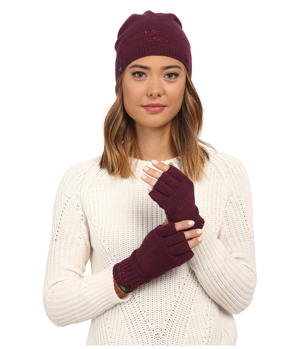 UGG - Classic Sequin Trimmed Beanie and Tech Fingerless Set (Aster Multi) Beanies