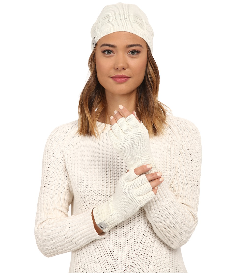 UGG - Classic Sequin Trimmed Beanie and Tech Fingerless Set (Cream Multi) Beanies