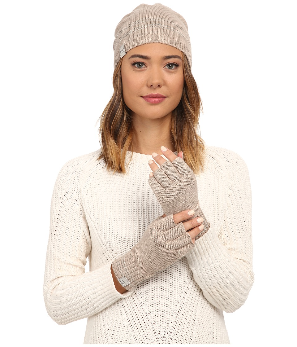 UGG - Classic Sequin Trimmed Beanie and Tech Fingerless Set (Moonlight Multi) Beanies