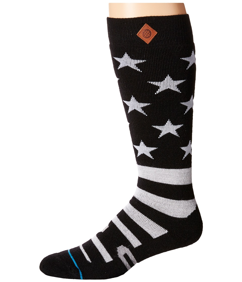 Stance - Stars Bars (Black) Men's Crew Cut Socks Shoes
