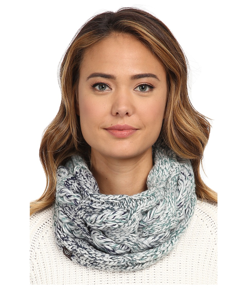 UGG - Grand Meadow Novelty Cable Snood (Navy Multi) Scarves