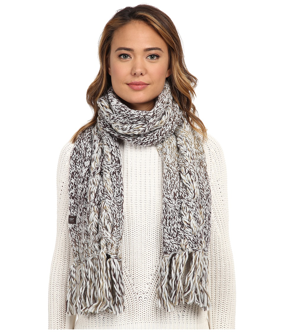 UGG - Grand Meadow Novelty Cable Fringe Scarf (Lodge Multi) Scarves