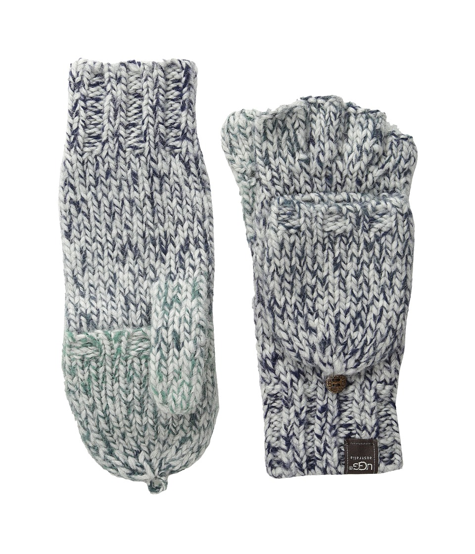 UGG - Grand Meadow Novelty Flip Mitten (Navy Multi) Over-Mits Gloves