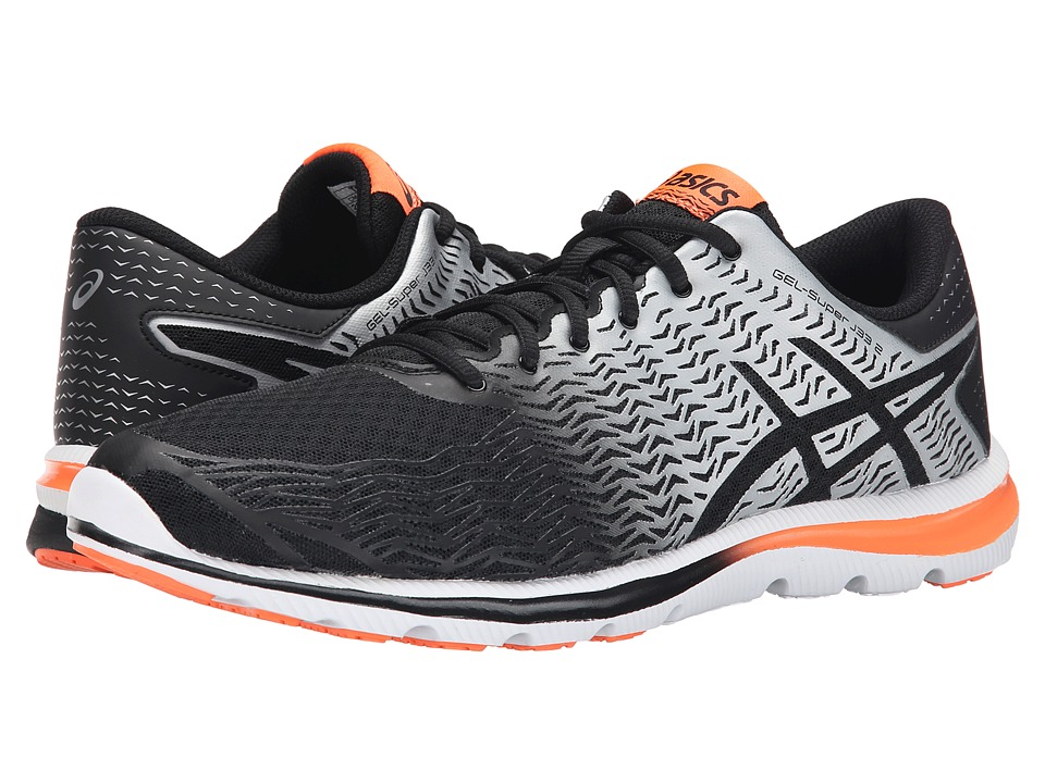ASICS - GEL-Super J33 2 (Black/Silver/Flash Orange) Men's Running Shoes