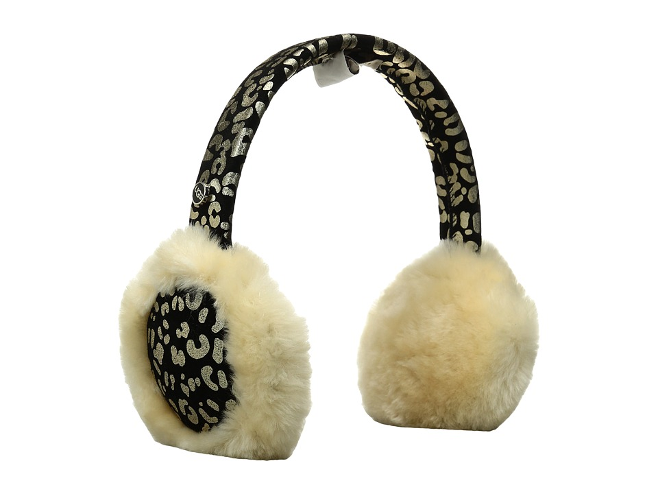 UGG - Radine Leopard Earmuff (Black Multi) Traditional Hats