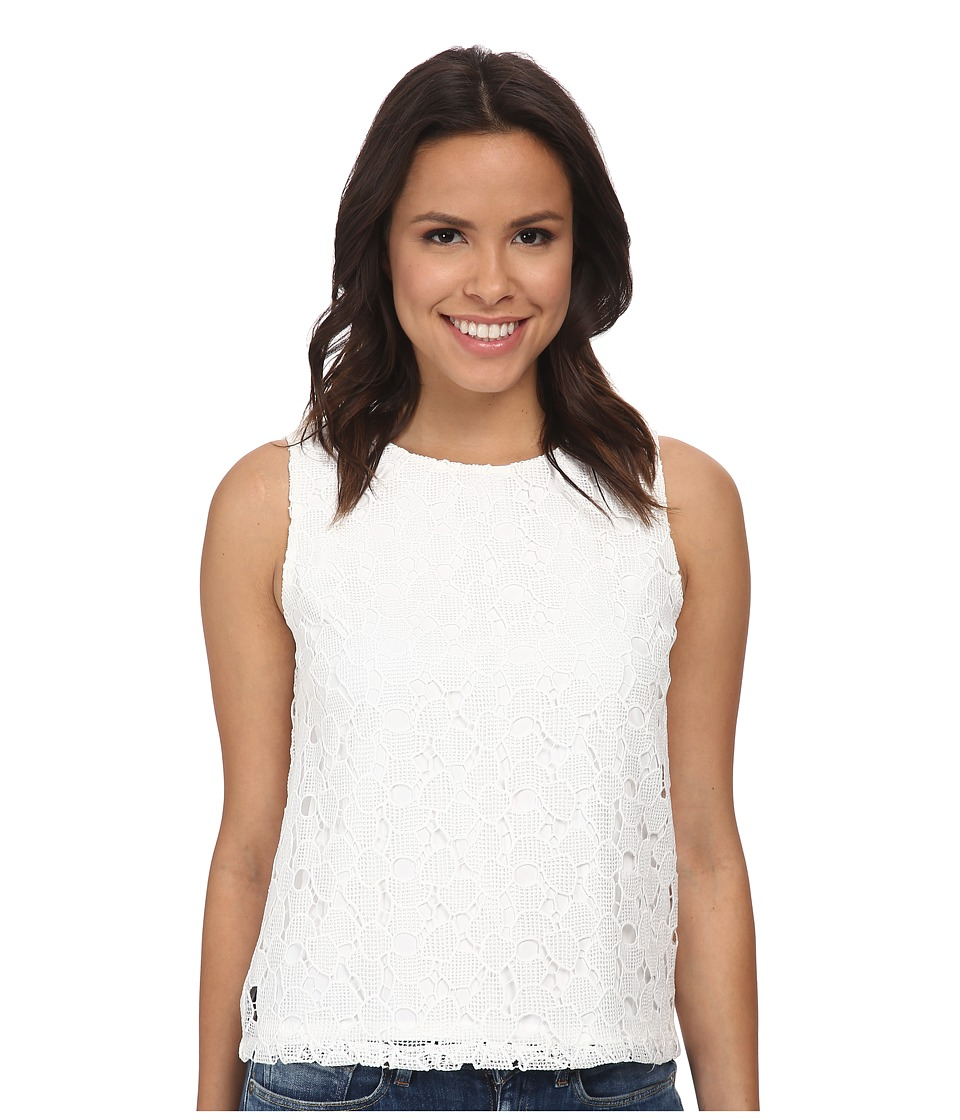 Calvin Klein - Lace Shell (Soft White) Women's Sleeveless