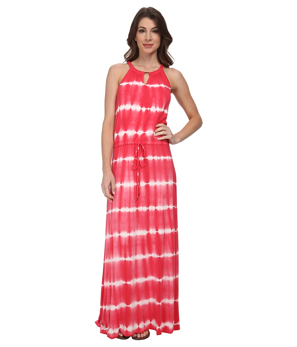 Calvin Klein - Tie-Dye Keyhole Maxi (Watermelon) Women's Dress