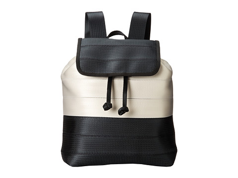 Harveys Seatbelt Bag - Berkeley Backpack (Salvage Black/White) Backpack Bags