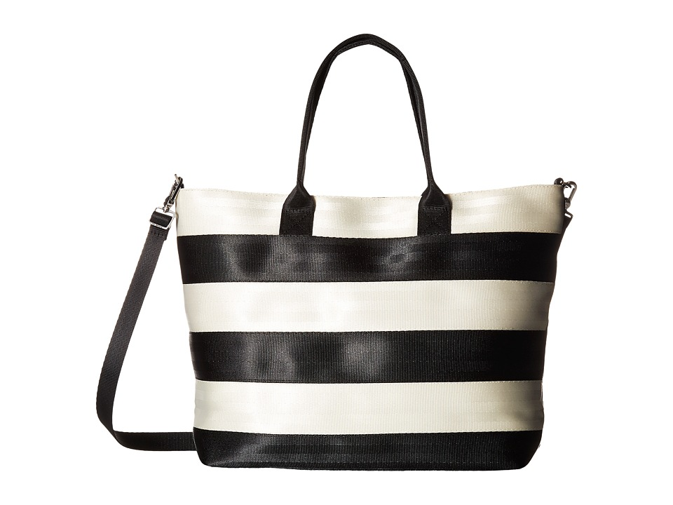 Harveys Seatbelt Bag - Streamline Tote (Salvage Black/White) Tote Handbags