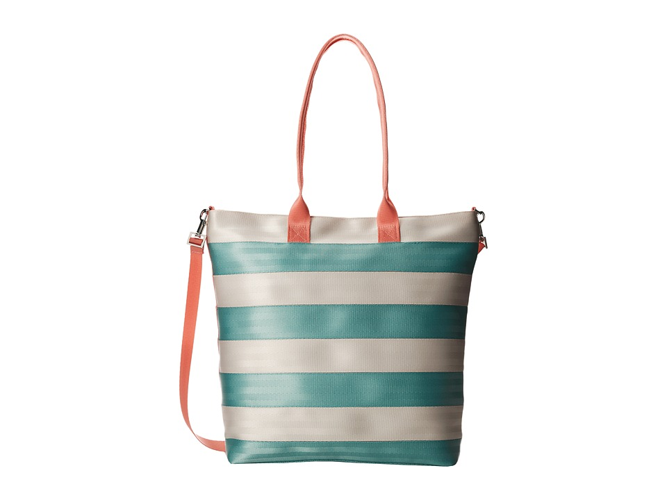 Harveys Seatbelt Bag - Streamline Tote (Mint/Peach) Tote Handbags