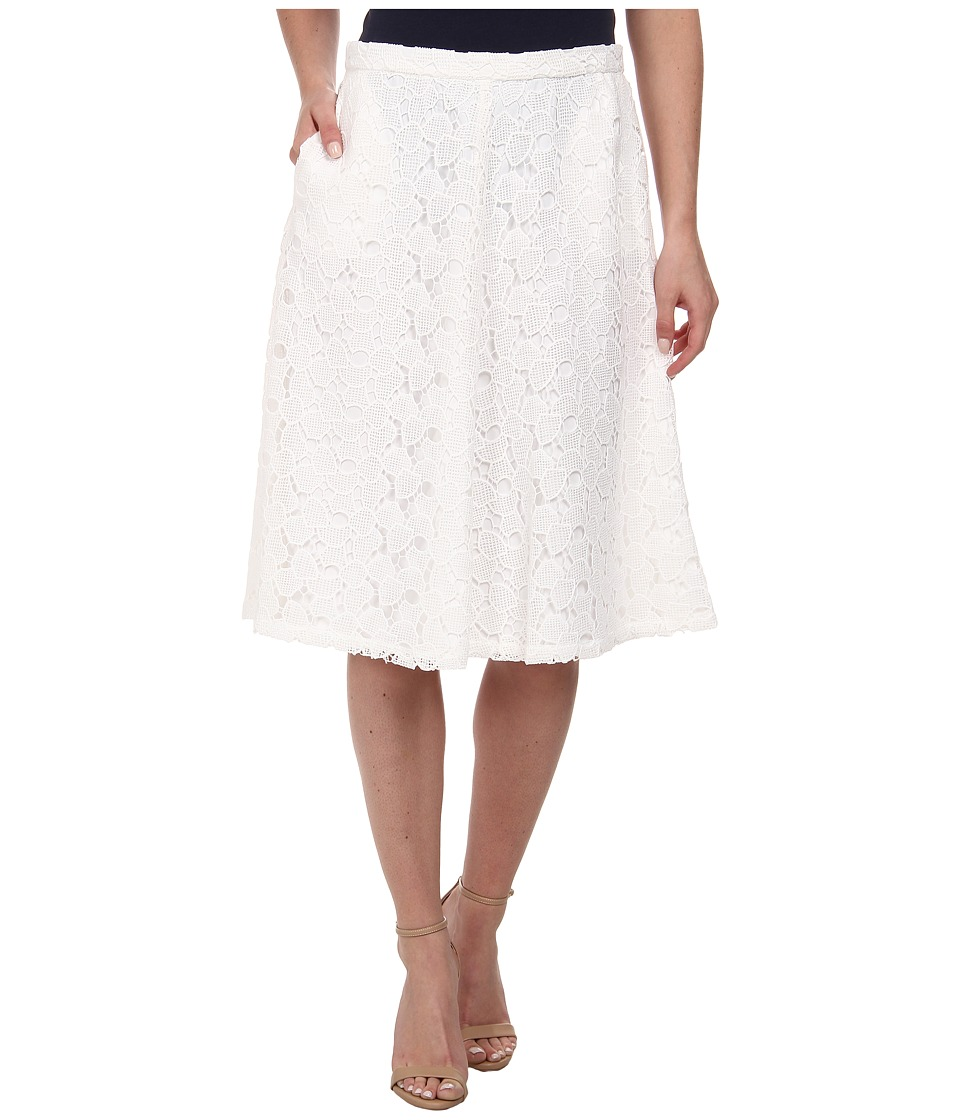 Calvin Klein - Lace Midi Skirt (Soft White) Women's Skirt