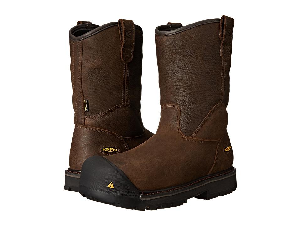 Keen Utility - Milwaukee Wellington (Cascade Brown) Men's Work Pull-on Boots