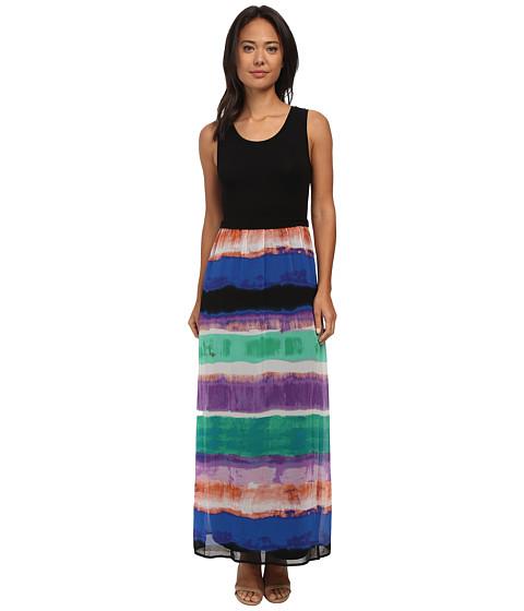 Calvin Klein - Maxi w/ Print Chiffon Bottom (Grass Combo) Women