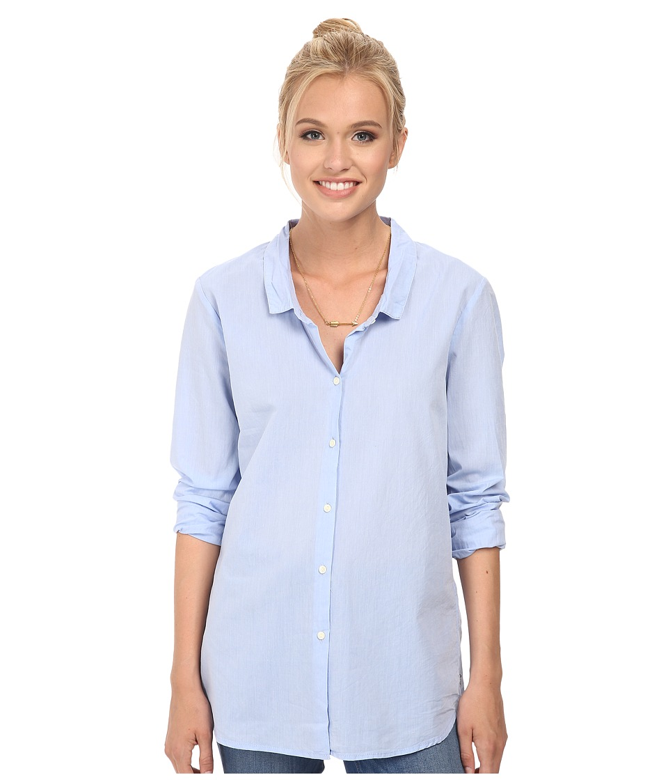 Maison Scotch - Relaxed Fit Preppy Shirt (Blue) Women's Clothing