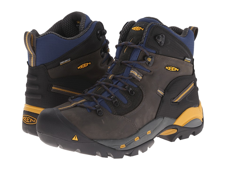 Keen Utility - Pittsburgh Boot (Raven/Yellow) Men's Work Boots