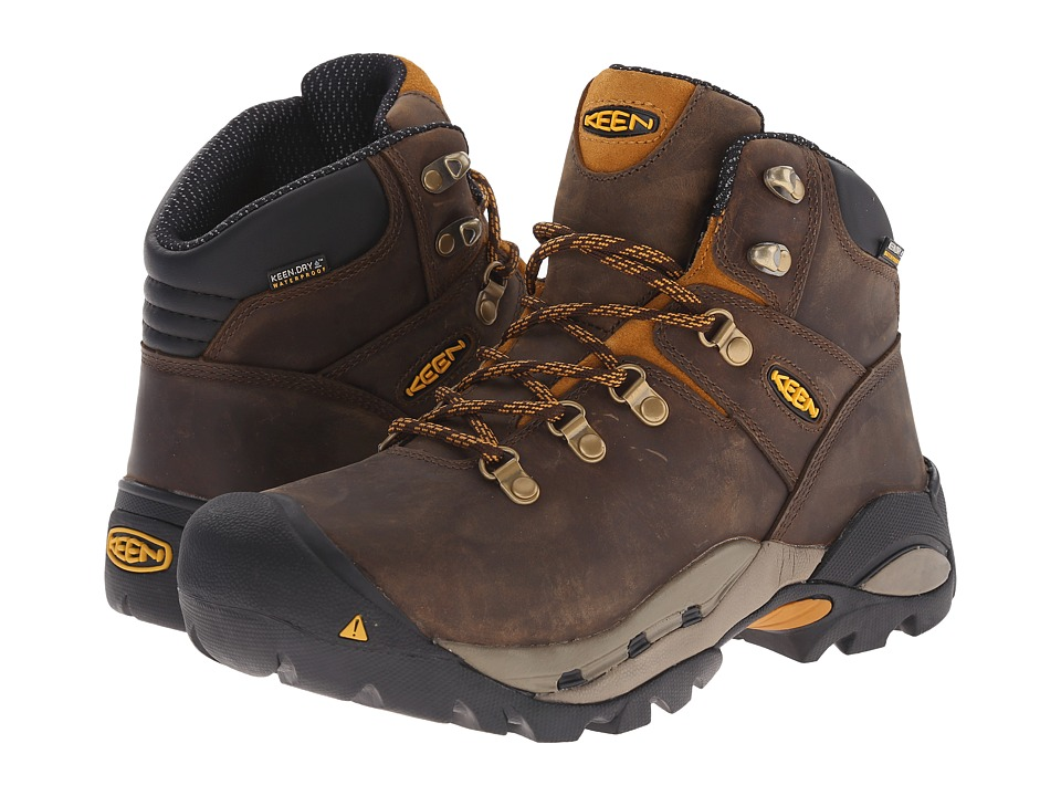 Keen Utility - Cleveland (Cascade Brown/Inca Gold) Men's Work Lace-up Boots