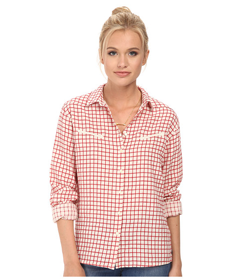 Maison Scotch - Western Inspired Checked Shirt (Red) Women's Clothing