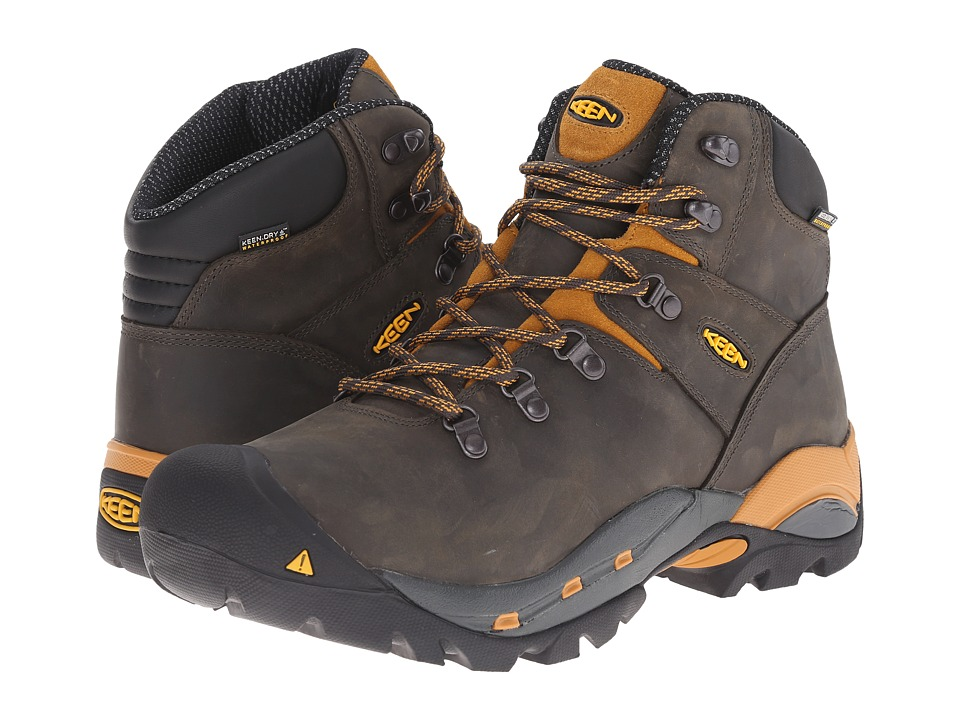 Keen Utility Cleveland Soft Toe (Raven/Inca Gold) Men's Work Lace-up Boots