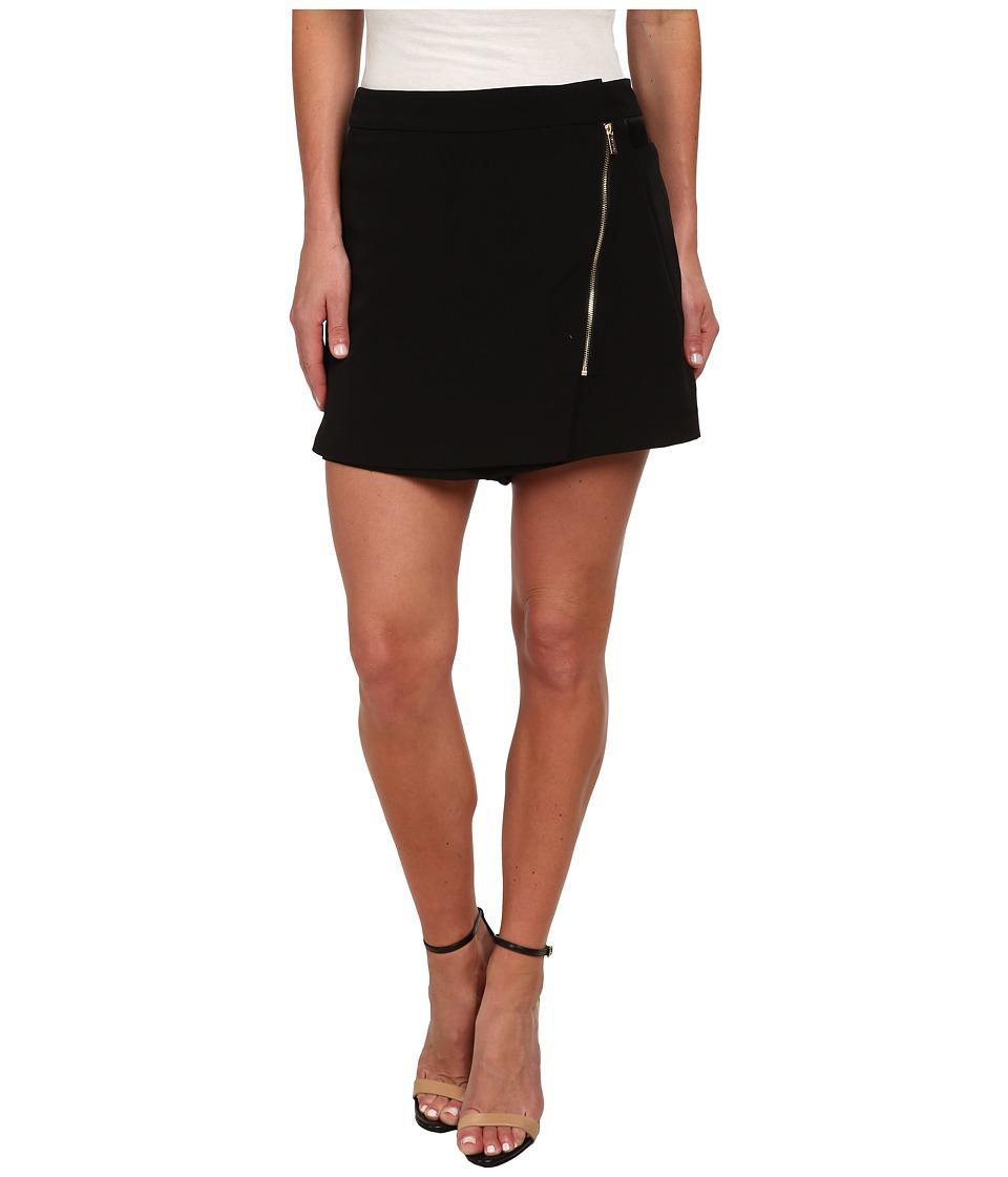 Calvin Klein - Moto Shorts (Black) Women's Skort