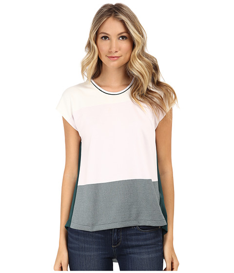 French Connection - Fast Sicily Stripe (Summer White/Orchard Ice/Faye Green) Women's Blouse