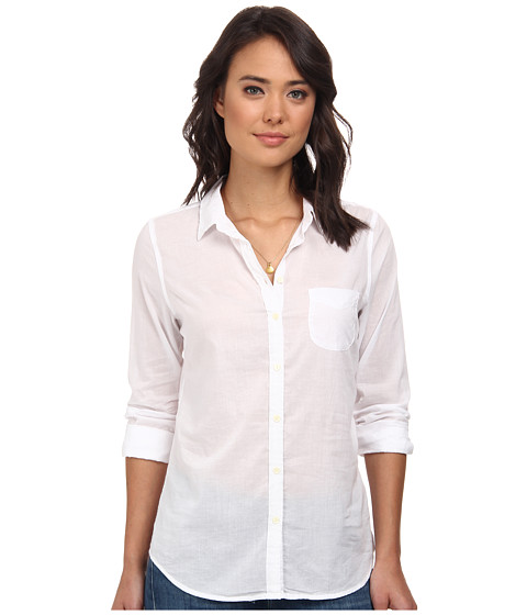 Maison Scotch - Iconic Lightweight Shirt (White) Women's Long Sleeve Button Up