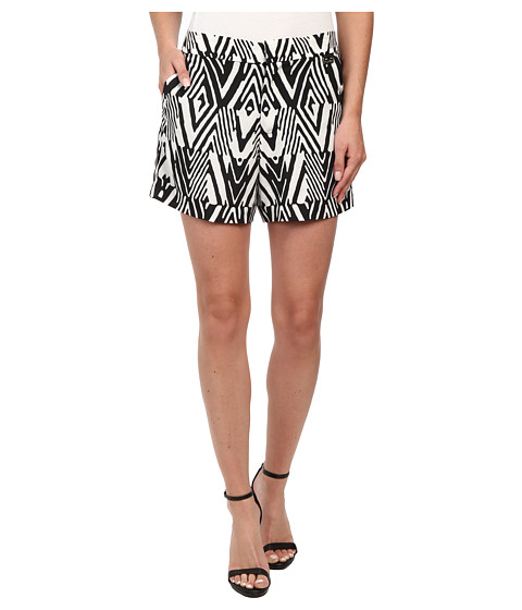 Calvin Klein - Print Woven Shorts (Black Peak) Women's Shorts