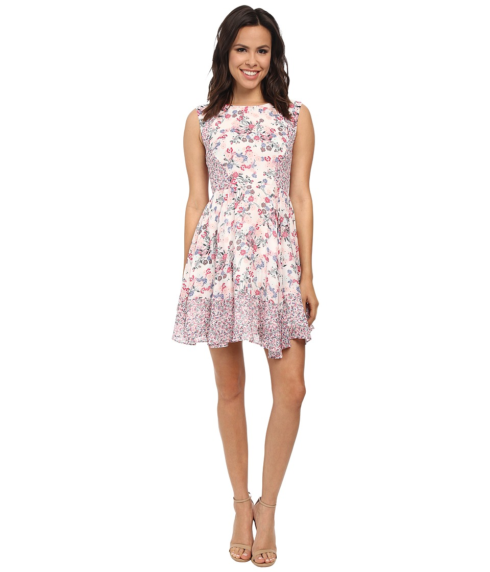 French Connection - Water Garden Georgette Dress (Porcelian Multi) Women's Dress
