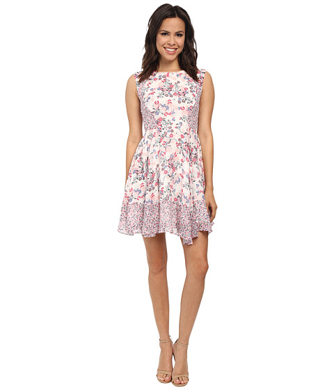 French Connection - Water Garden Georgette Dress (Porcelian Multi) Women
