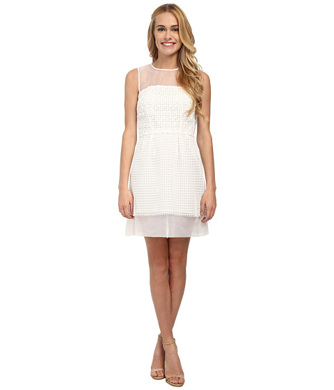 French Connection - Glacier Wave Dress (Summer White) Women
