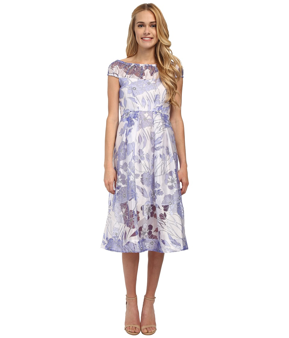 French Connection - Water Garden Sheer Dress (Summer White Multi) Women's Dress