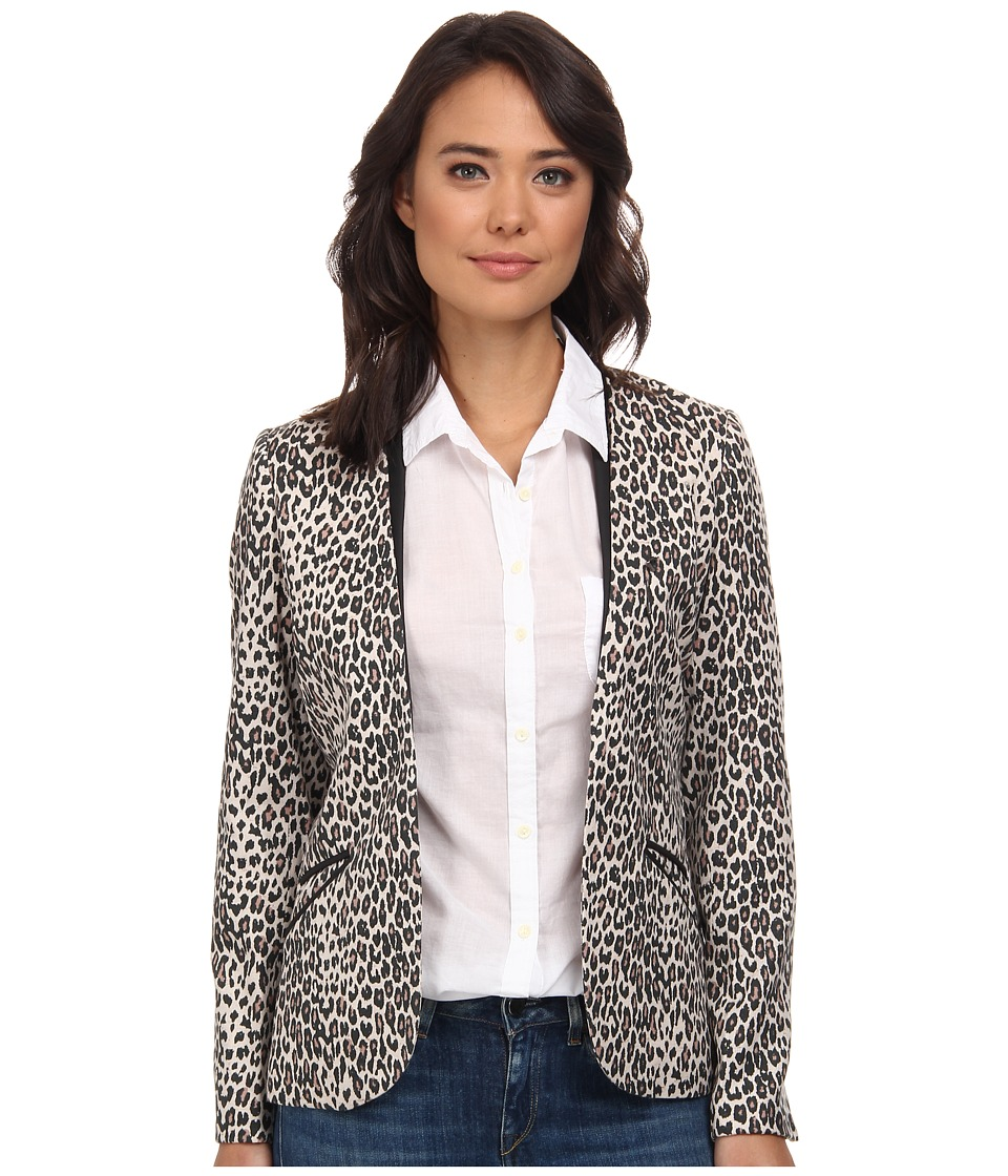 Maison Scotch - Summer Blazer w/ Faux Leather Details (Print) Women's Jacket