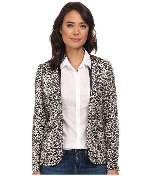 Maison Scotch - Summer Blazer w/ Faux Leather Details (Print) Women