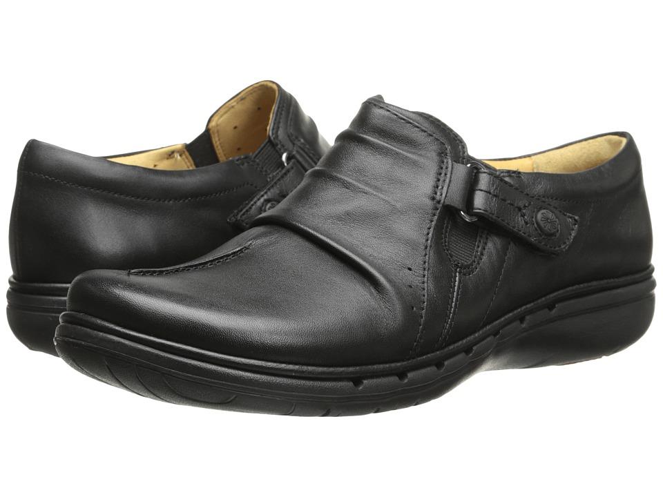 Clarks - Un Casey (Black Leather) Women's Shoes